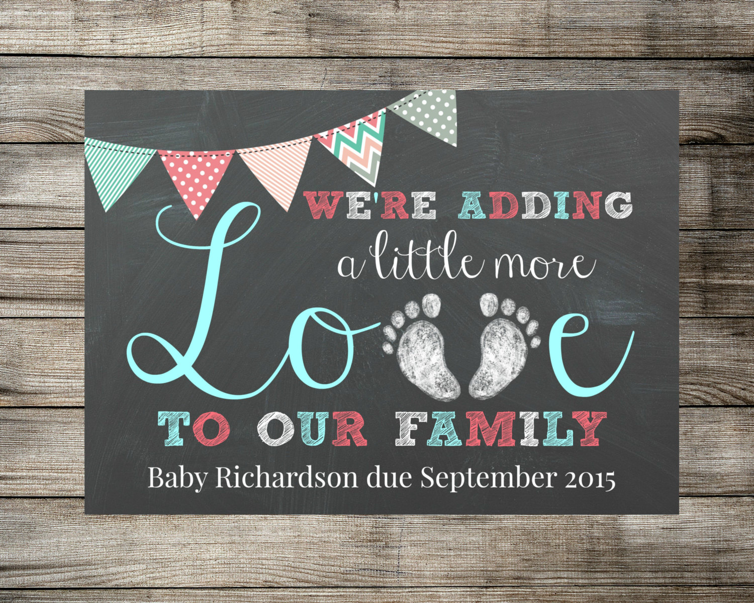 Baby / Pregnancy Announcement We're Adding A Little More Love To Our - Free Printable Pregnancy Announcement Cards