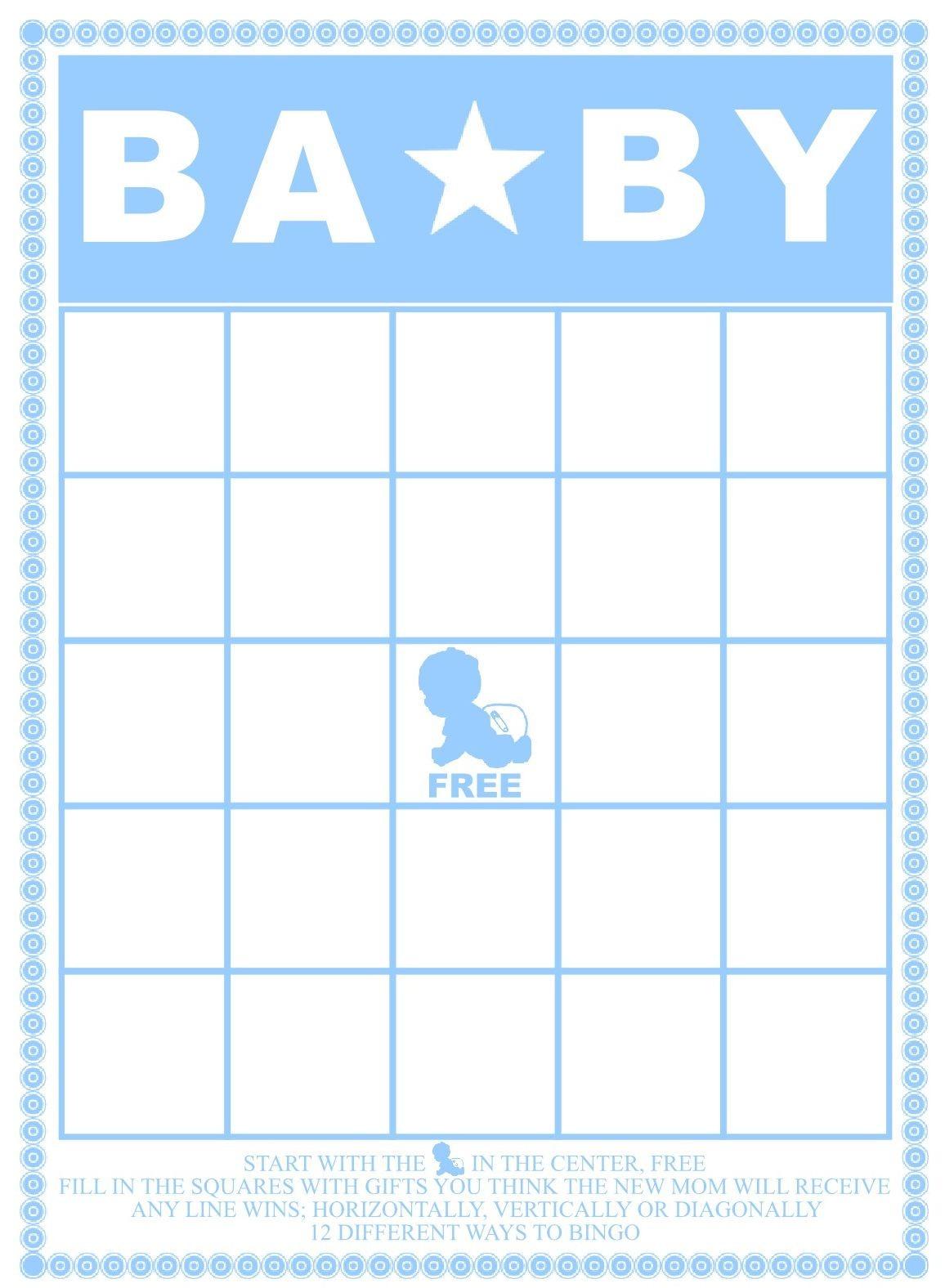 Baby Shower Bingo Card Template - Home Design Ideas - Home Design Ideas - Baby Bingo Free Printable Template