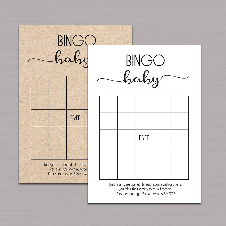 Baby Shower Bingo Cards Baby Shower Bingo Printable Baby | Etsy - 50 Free Printable Baby Bingo Cards