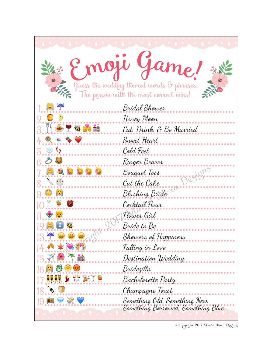 Baby Shower Emoji Pictionary Free Printable - Baby Shower Ideas - Wedding Emoji Pictionary Free Printable