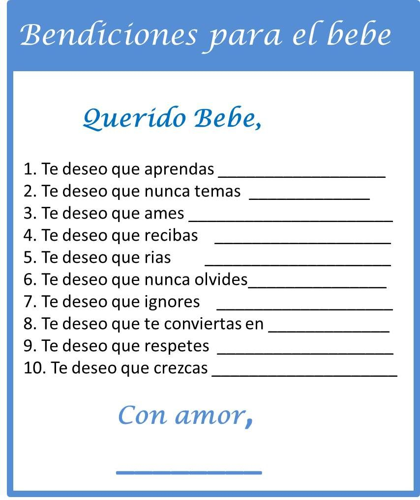 Baby Shower Games In Spanish - My Practical Baby Shower Guide - Free Printable Baby Shower Games In Spanish