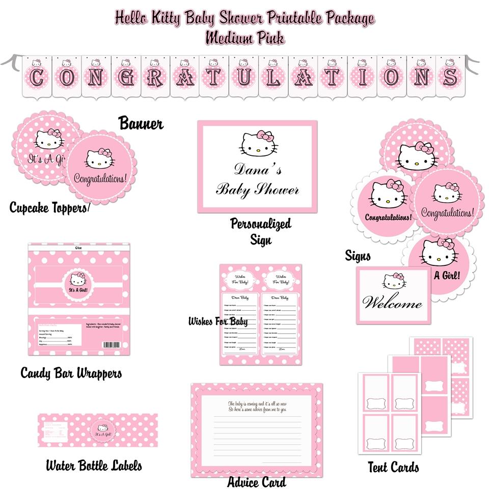 Baby Shower Invitation Template Hello Kitty Baby Shower Invitations - Free Printable Hello Kitty Baby Shower Invitations