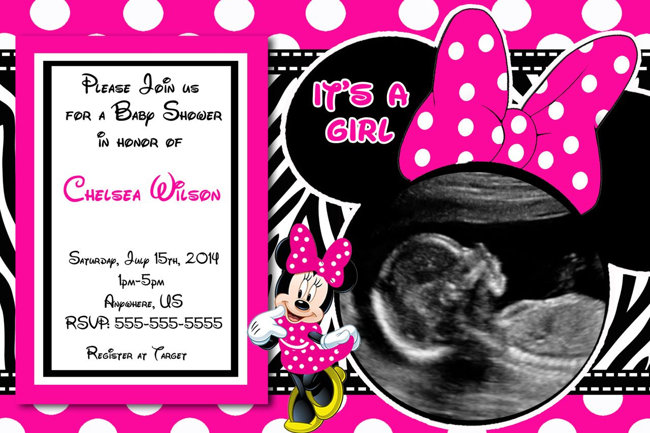 Baby Shower Invitations: Minnie Mouse Baby Shower Invitations - Free Printable Mickey Mouse Baby Shower Games