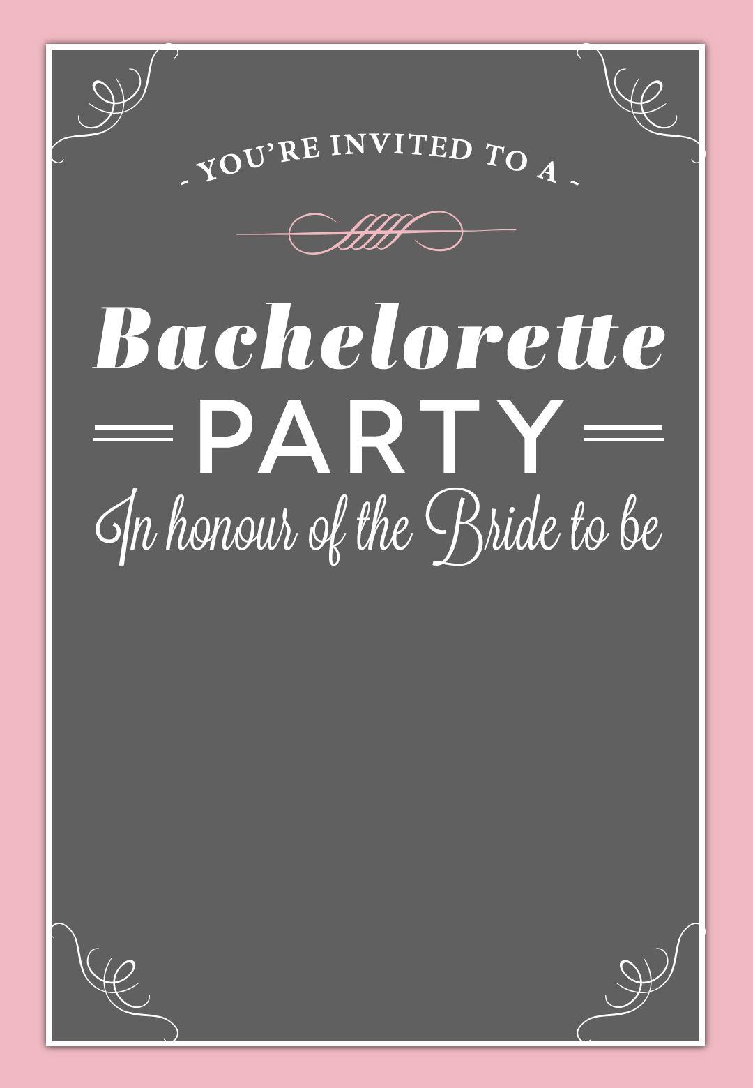 Bachelorette Party #invitation - Free Printable | Free Bachelorette - Free Printable Event Invitations