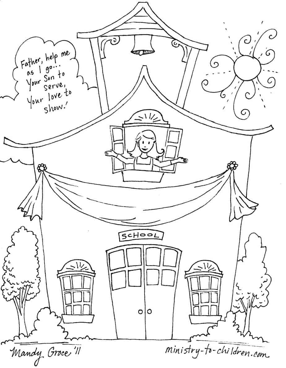 Back To School Coloring Pages - Back To School Free Printable Coloring Pages