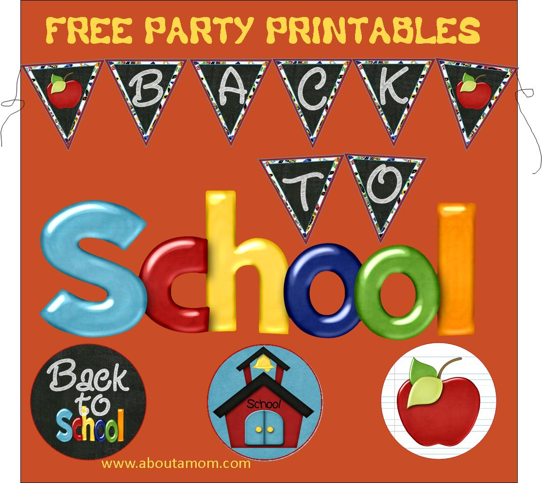 Back To School Party Printables - About A Mom - Free Printable Back To School