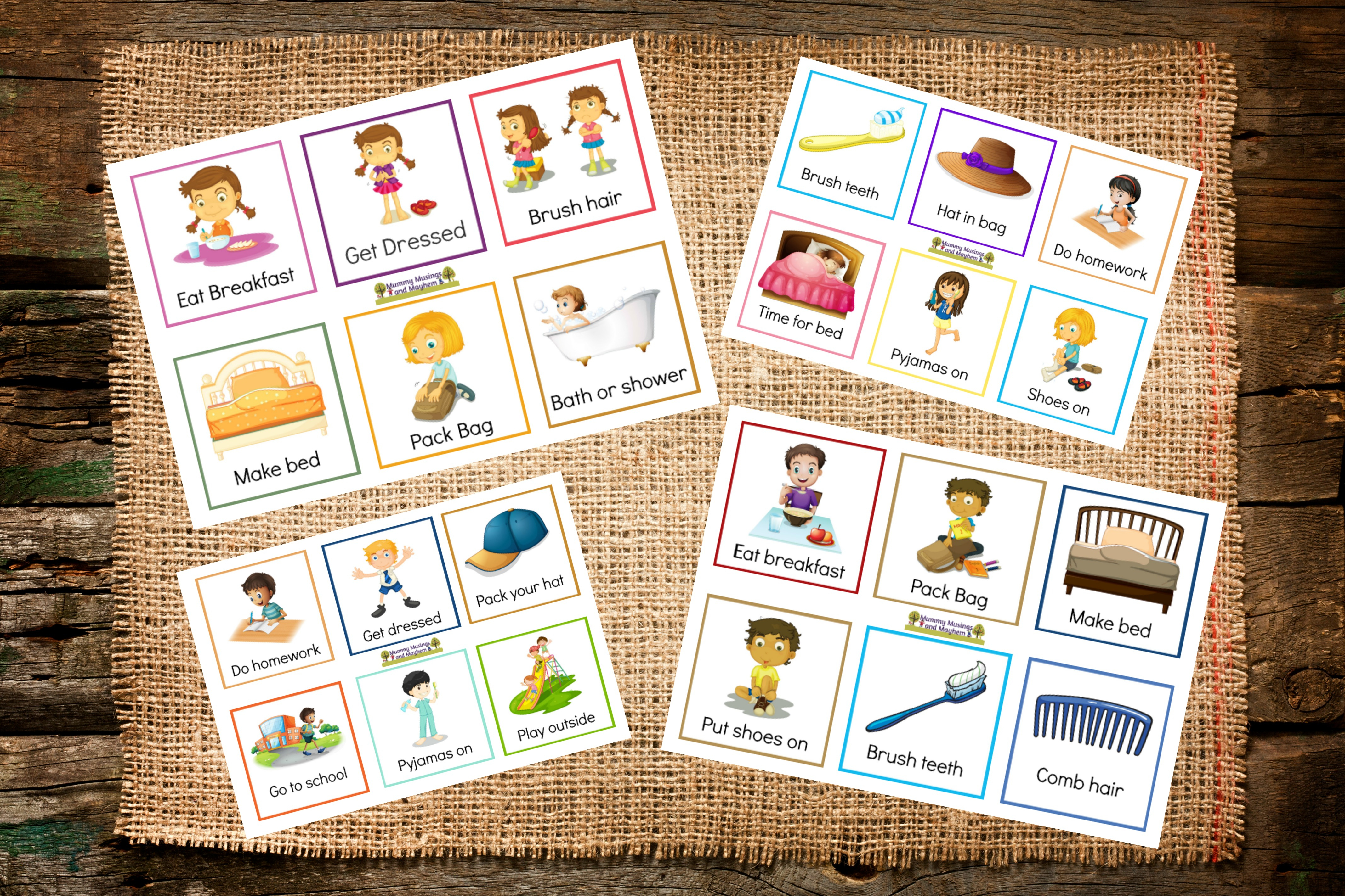 Back To School Routines - Free Printable Cards To Make It Easier - Free Printable Picture Cards