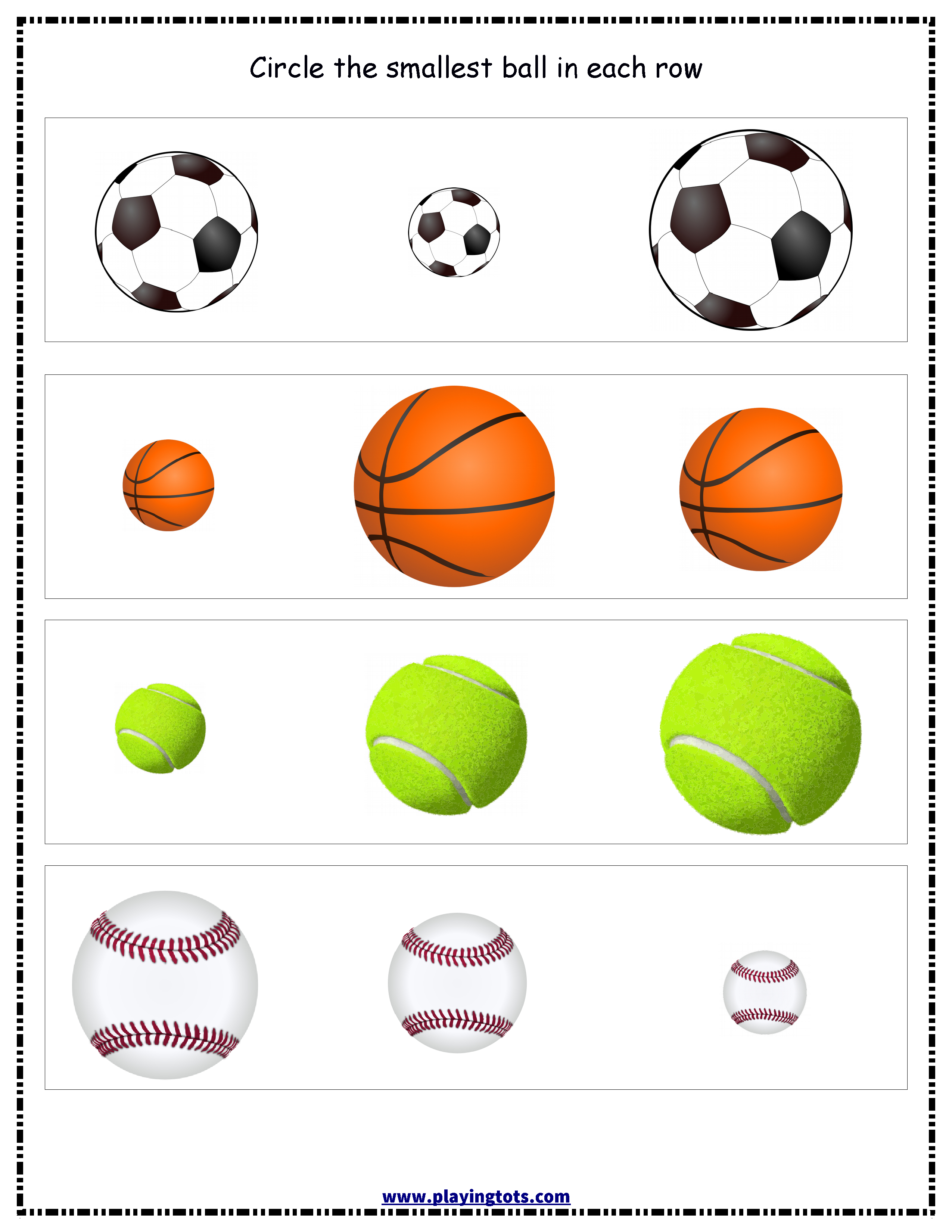Balls Worksheet Keywords:free,printable,file,folder,toddler - Free Printable File Folders For Preschoolers