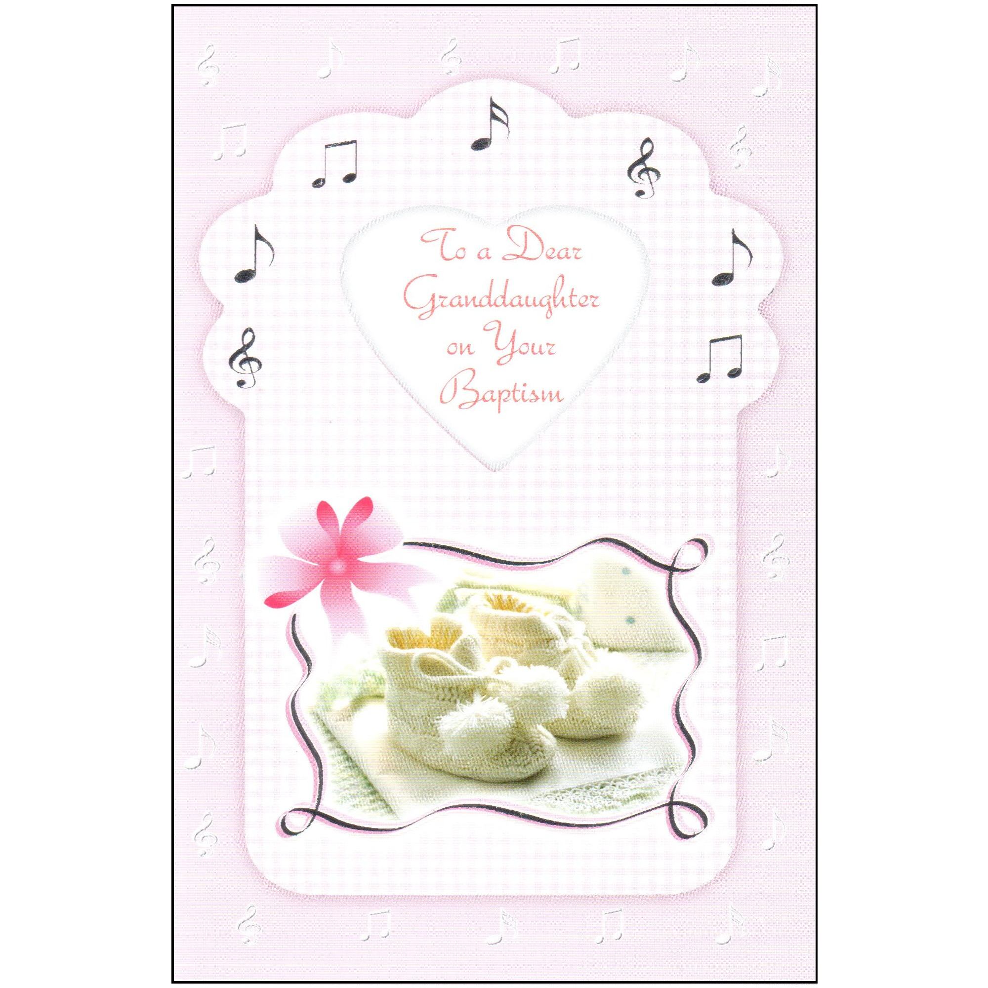 Baptism Greeting Card - Granddaughter | The Catholic Company - Free Printable Baptism Greeting Cards