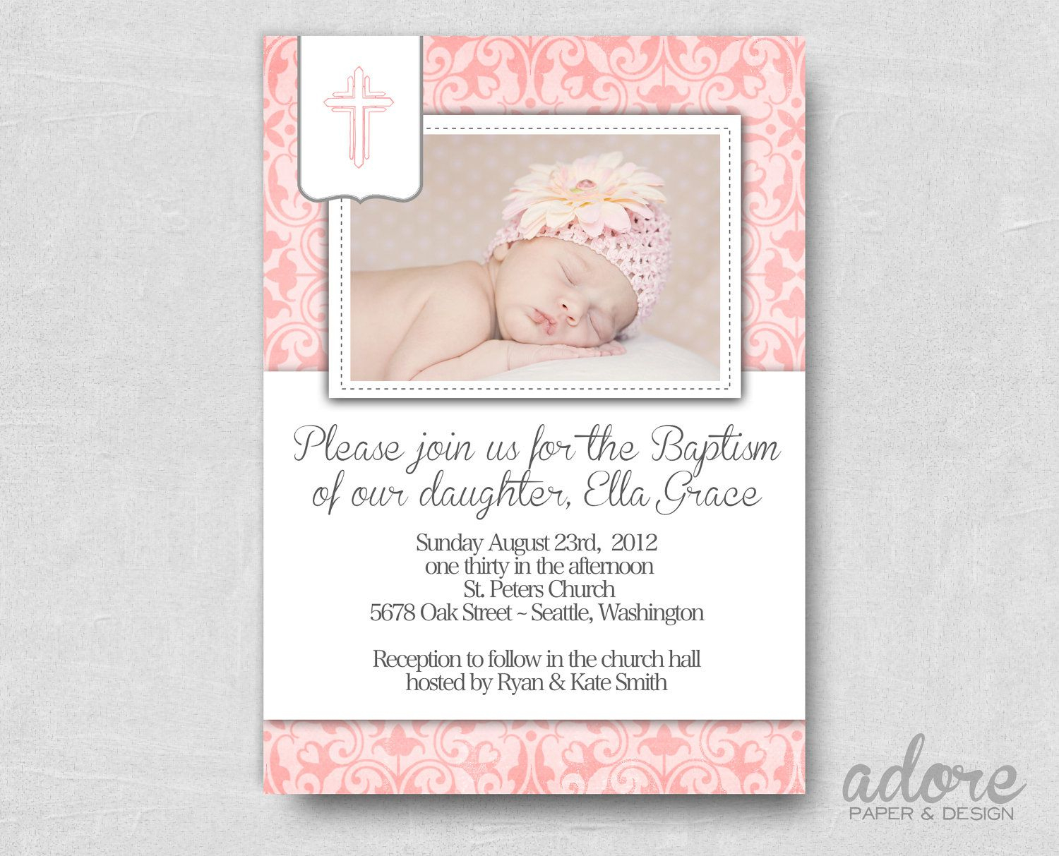 Baptism Invitation : Free Printable Baptism Invitations - Baptism - Free Printable Personalized Baptism Invitations