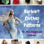 Barbie Clothes Patterns: 45+ Free Designs & Tutorials – So Sew Easy – Free Printable Barbie Doll Sewing Patterns Template
