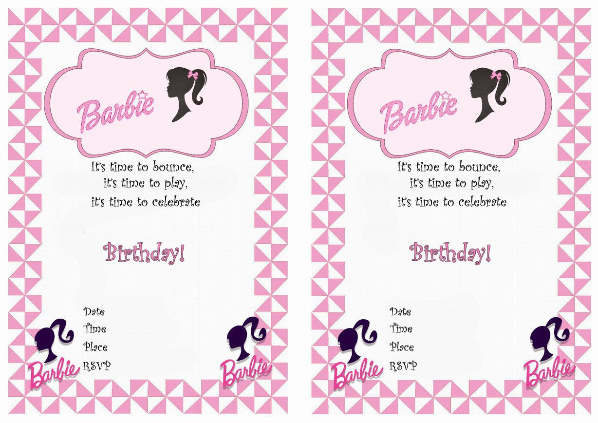 Barbie Free Printable Birthday Party Invitations | Birthday Party - Free Printable Barbie Birthday Party Invitations