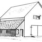 Barn And Lean To Coloring Page | Free Printable Coloring Pages   Free Printable Barn Coloring Pages