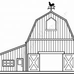 Barn Outline Barn Coloring Pages Free Jpg   Clipartix   Free Printable Barn Coloring Pages