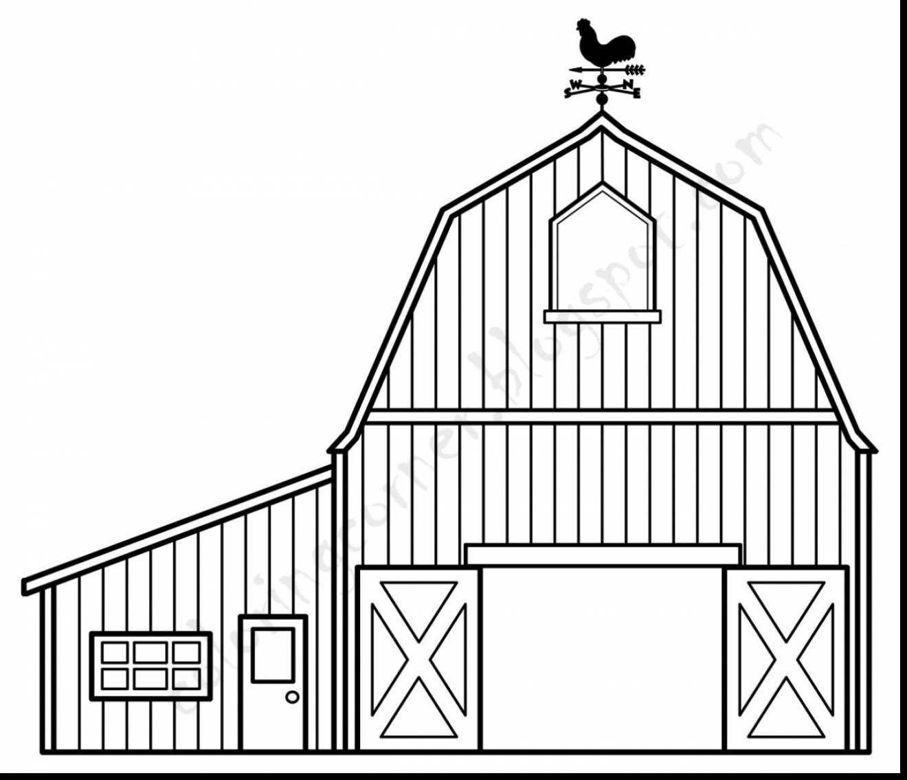 Barn Outline Barn Coloring Pages Free Jpg - Clipartix - Free Printable Barn Coloring Pages