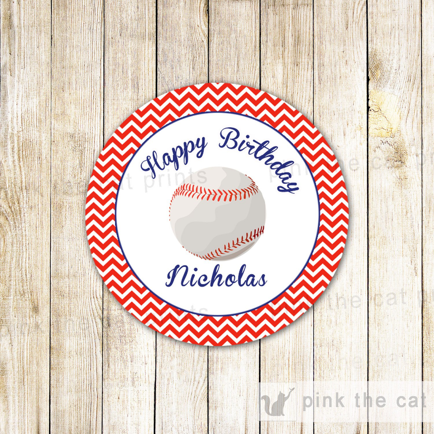 Baseball Label Baseball Favor Tag Baseball Party Label Red | Etsy - Free Printable Baseball Favor Tags