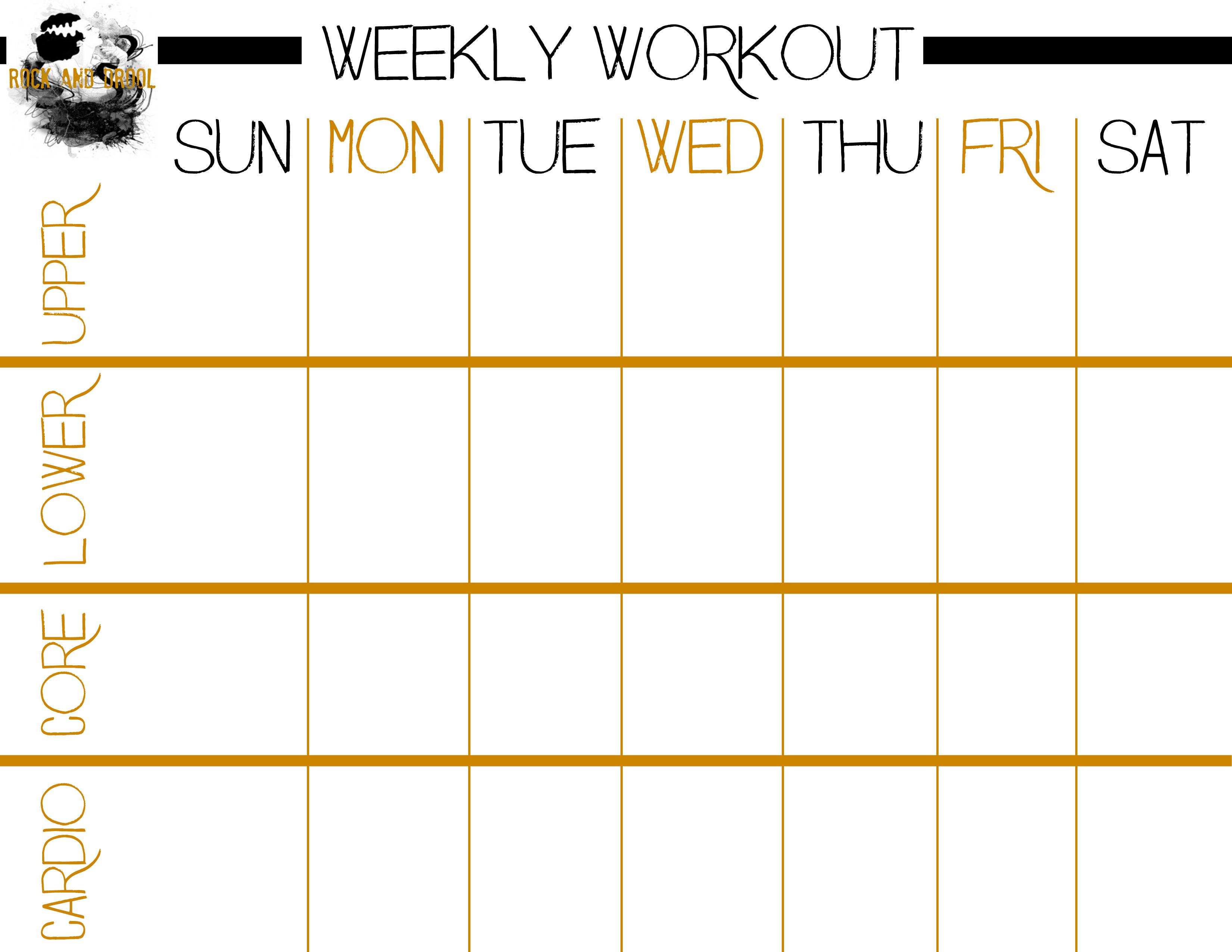 Basic Full Body Workout Plus Free Printable Workout Sheet - Rock And - Free Printable Workout Plans