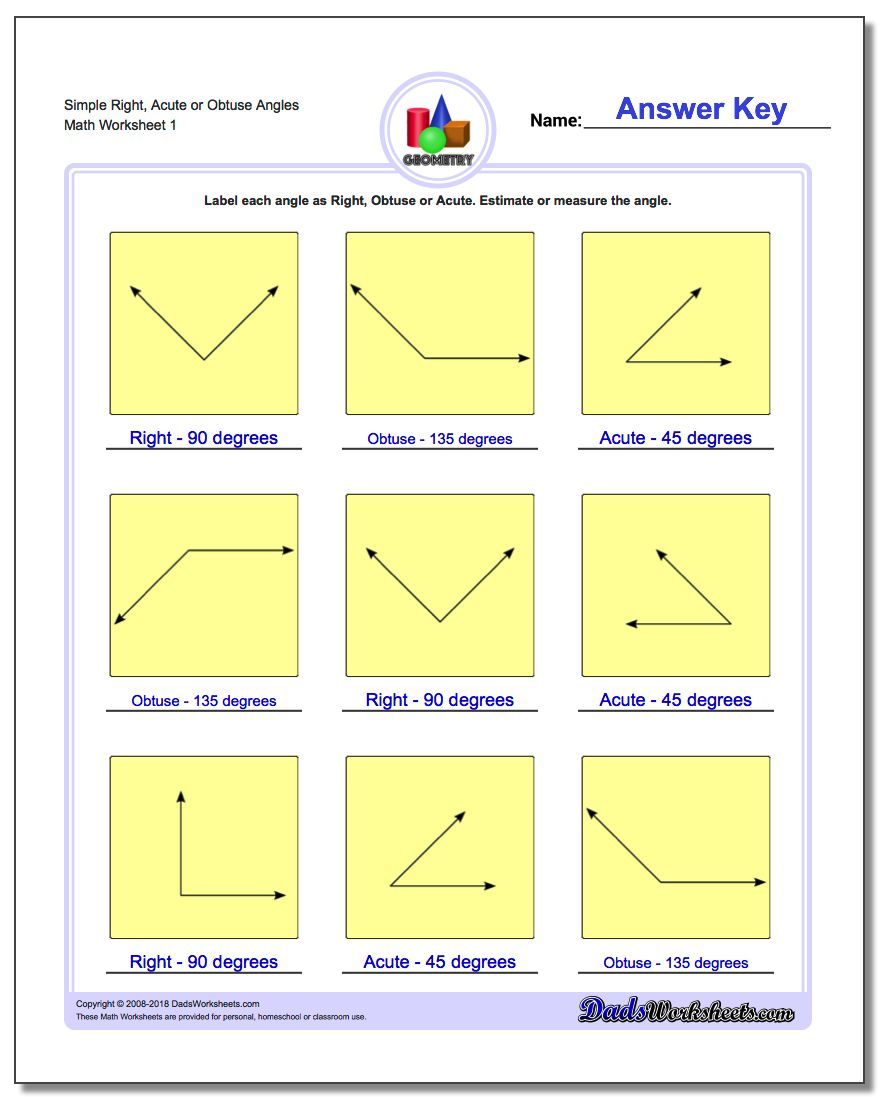 Basic Geometry - Free Printable Geometry Worksheets For 3Rd Grade