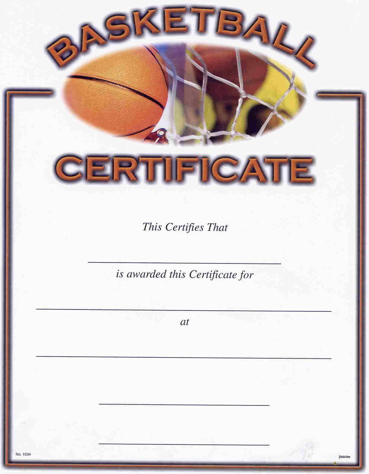 Basketball Award Certificate Reads   Awards   Pinterest   Basketball - Basketball Participation Certificate Free Printable