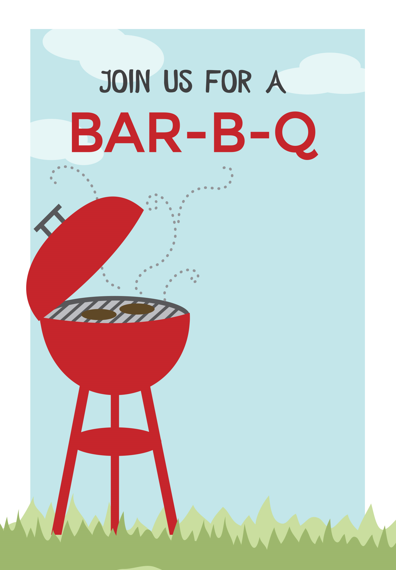 Bbq Cookout - Free Printable Bbq Party Invitation Template - Free Printable Cookout Invitations