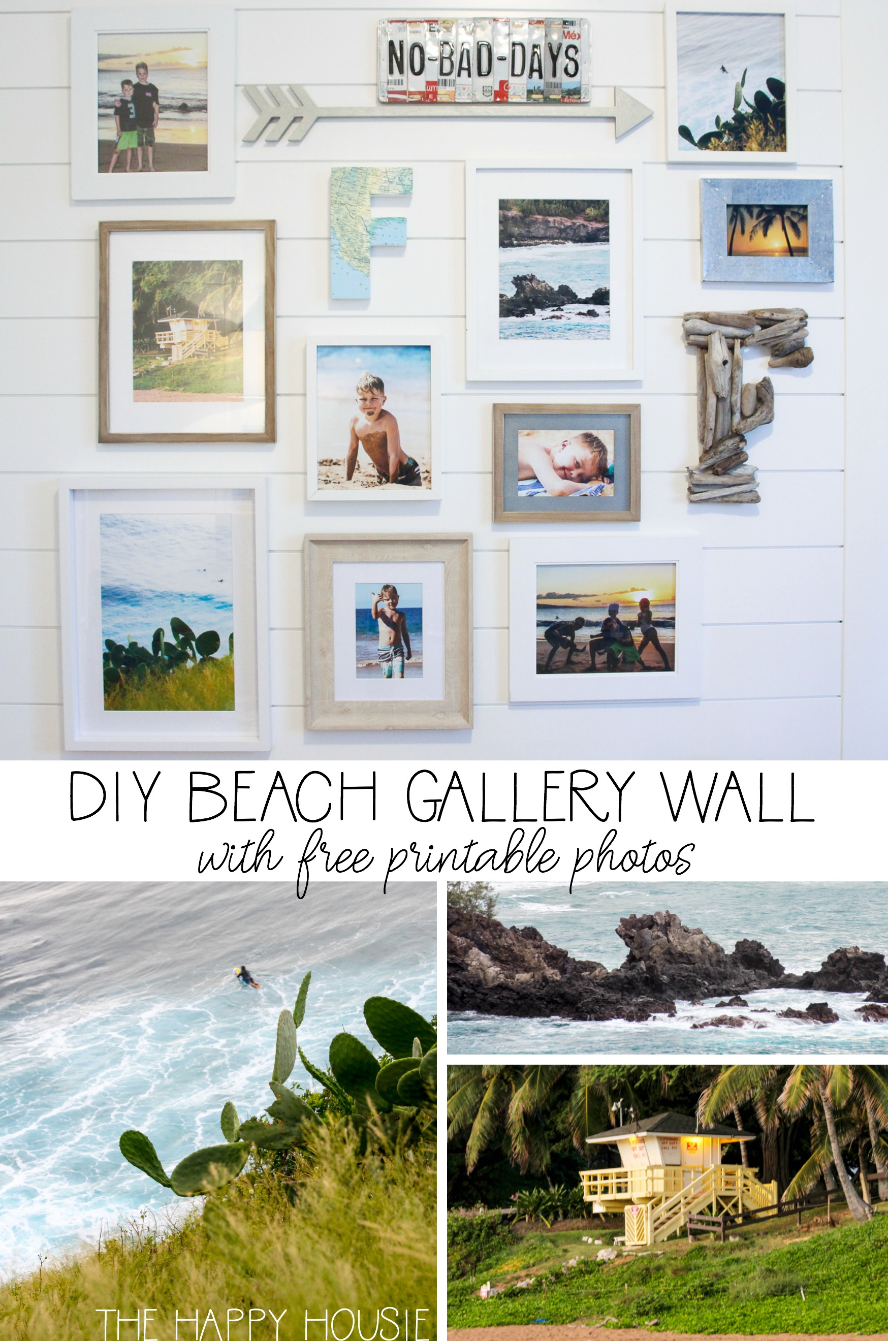 Beach Theme Gallery Wall With Free Printable Beach Photography | The - Free Printable Beach Pictures