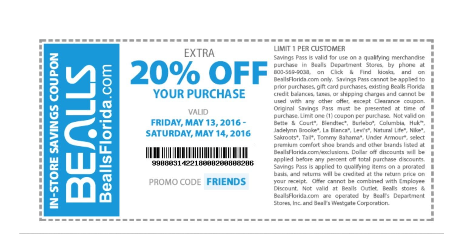 Bealls Coupon Book / Free Discount Coupons For Online Shopping - Free Printable Bealls Florida Coupon