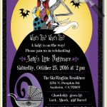 Beautiful Nightmare Before Christmas Birthday Invitations Designs   Free Printable Nightmare Before Christmas Birthday Invitations