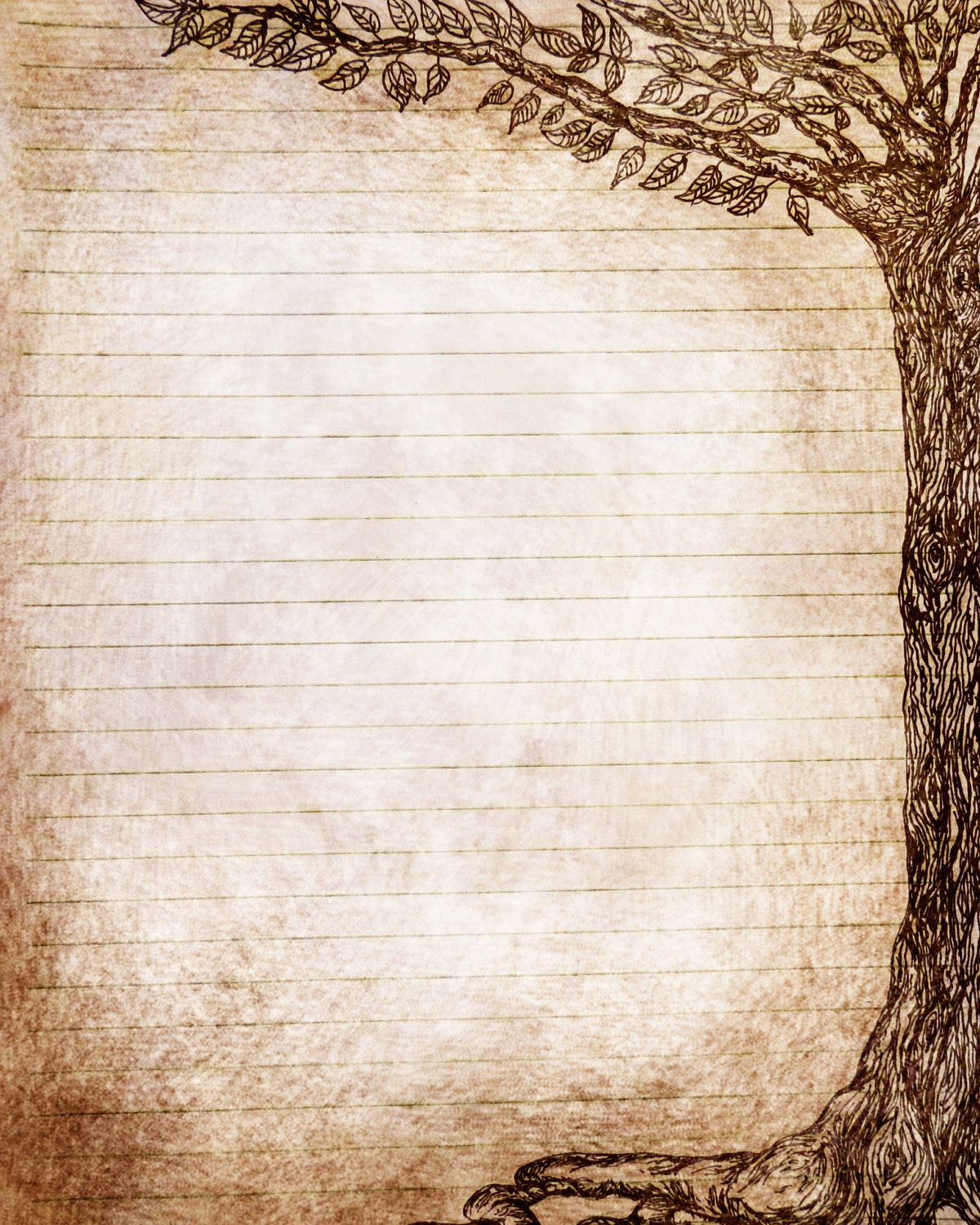 Beautiful Tree Drawing Journal Page | Create It!! | Pinterest - Free Printable Journal Pages Lined