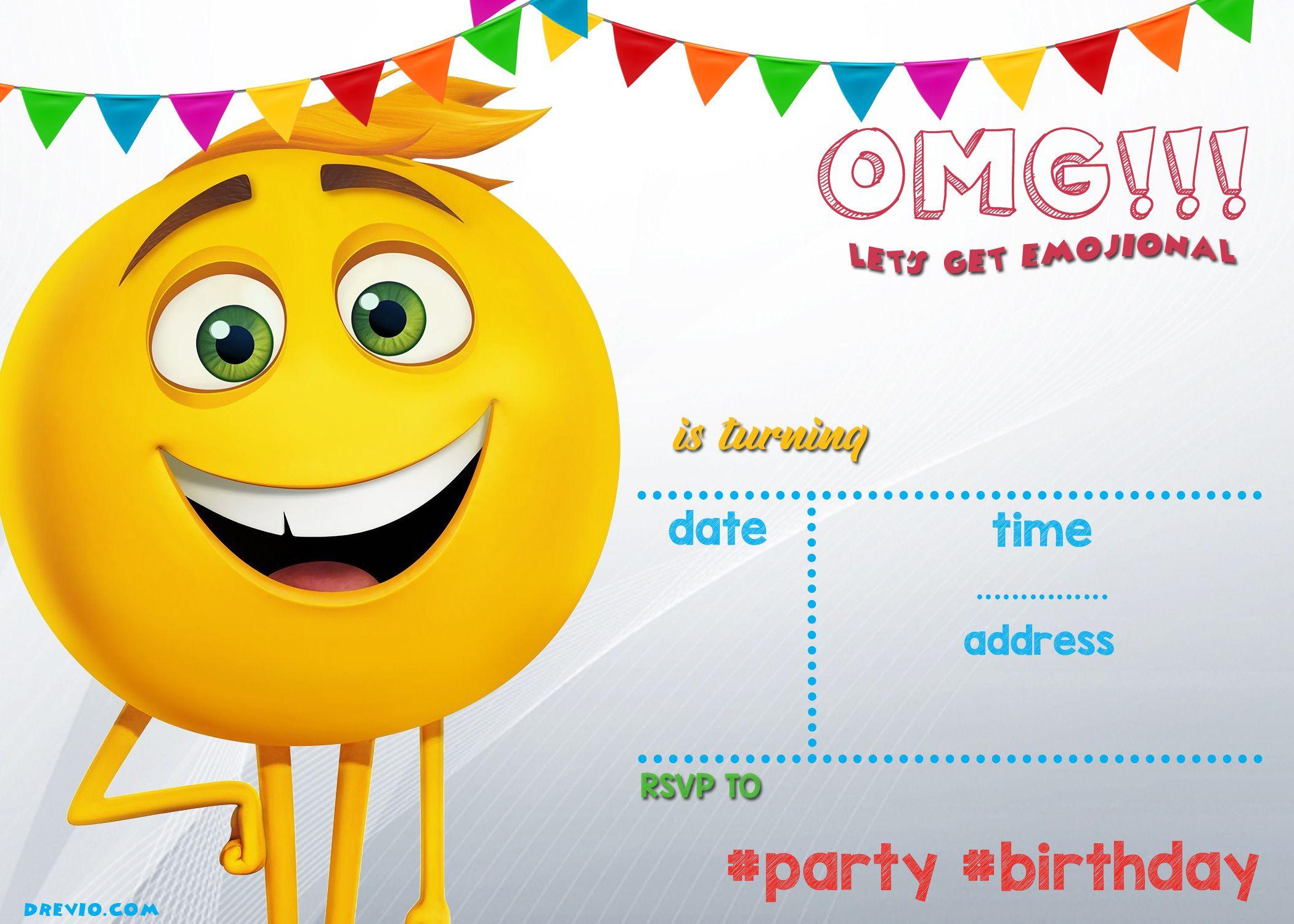 Bebfeeeff Amazing Emoji Invitation Template Free - Jmphotoworks - Emoji Invitations Printable Free
