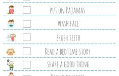 Bed Time Routine Checklist: Free Printable – | Kid's Activities And – Free Printable Bedtime Routine Chart