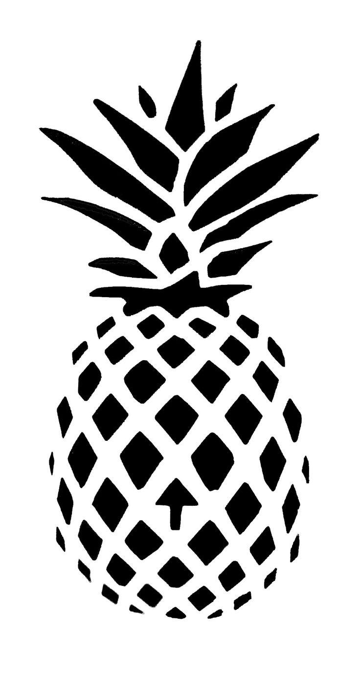 Best Free Printable Stencil Patterns Pineapple Art Drawing - Free Printable Stencil Patterns