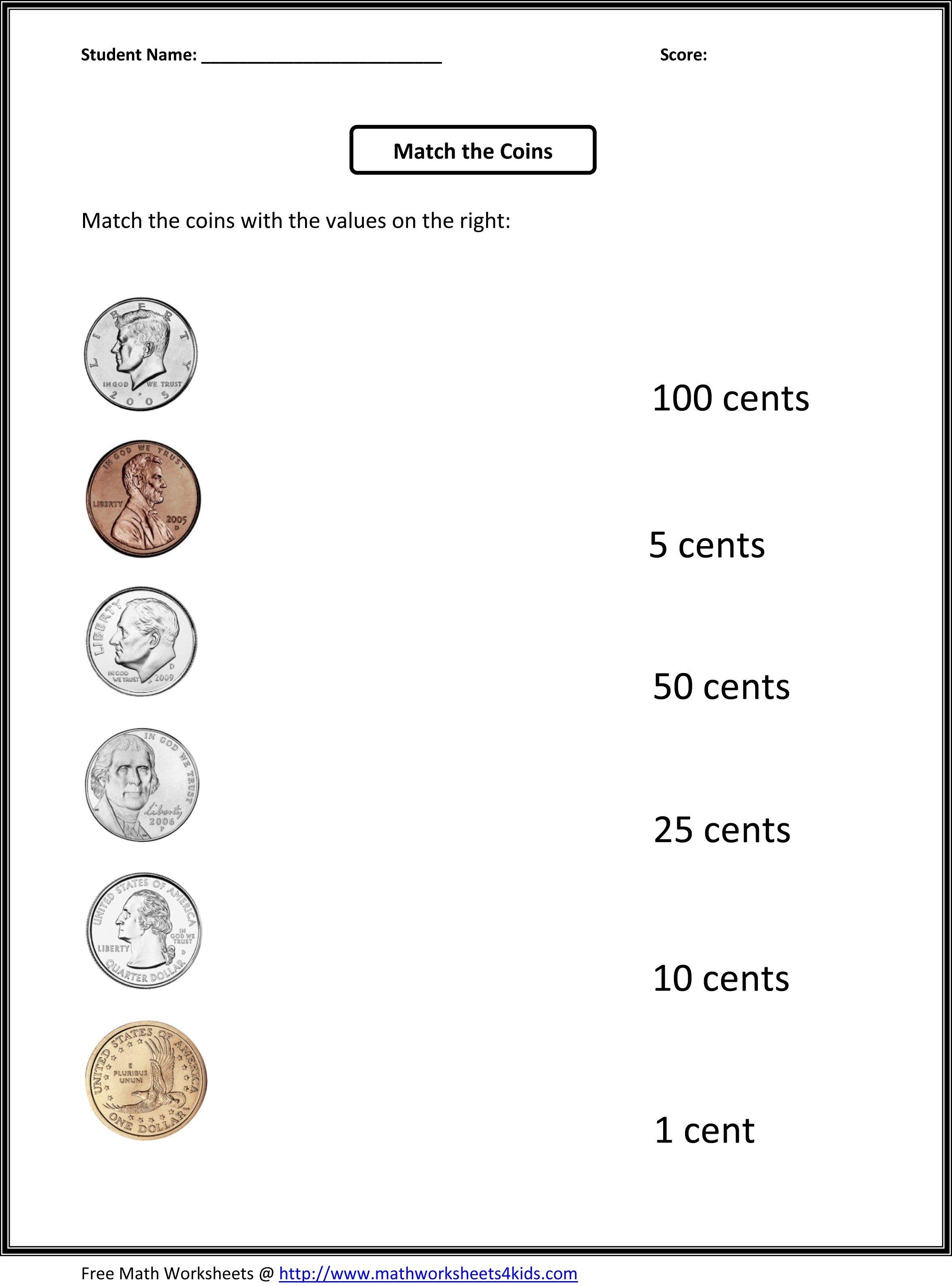 Best Of Printable Money Worksheets First Grade | Fun Worksheet - Free Printable Money Worksheets