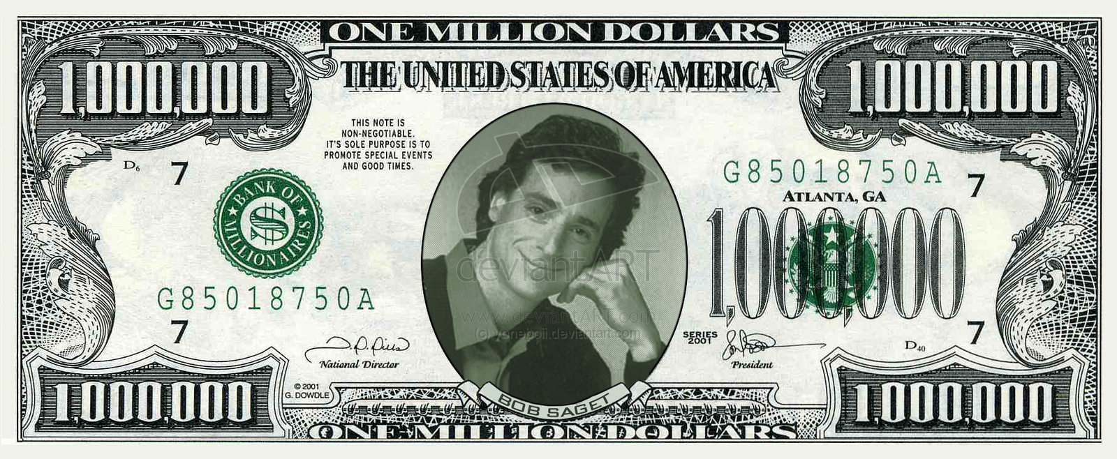 Best Photos Of A Million Dollar Bill Print Printable Fake One 1 - Free Printable Million Dollar Bill