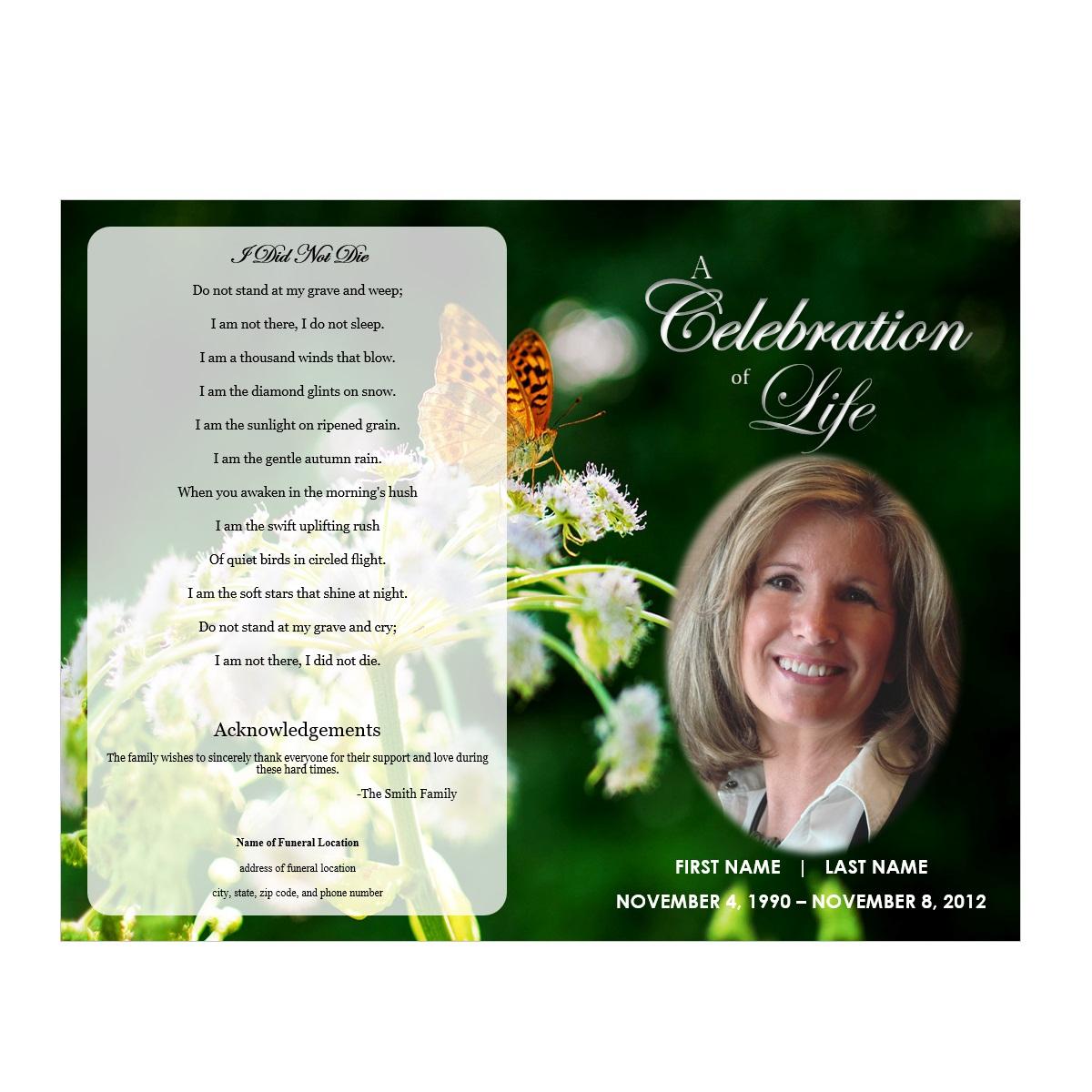 Best Photos Of Memorial Service Program Template Funeral - Free Printable Funeral Program Template