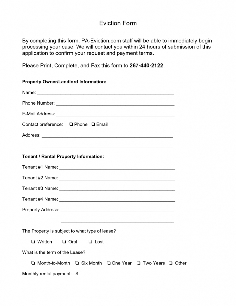 Best Photos Of Pennsylvania Eviction Notice Form - Printable With - Free Printable Eviction Notice Pa