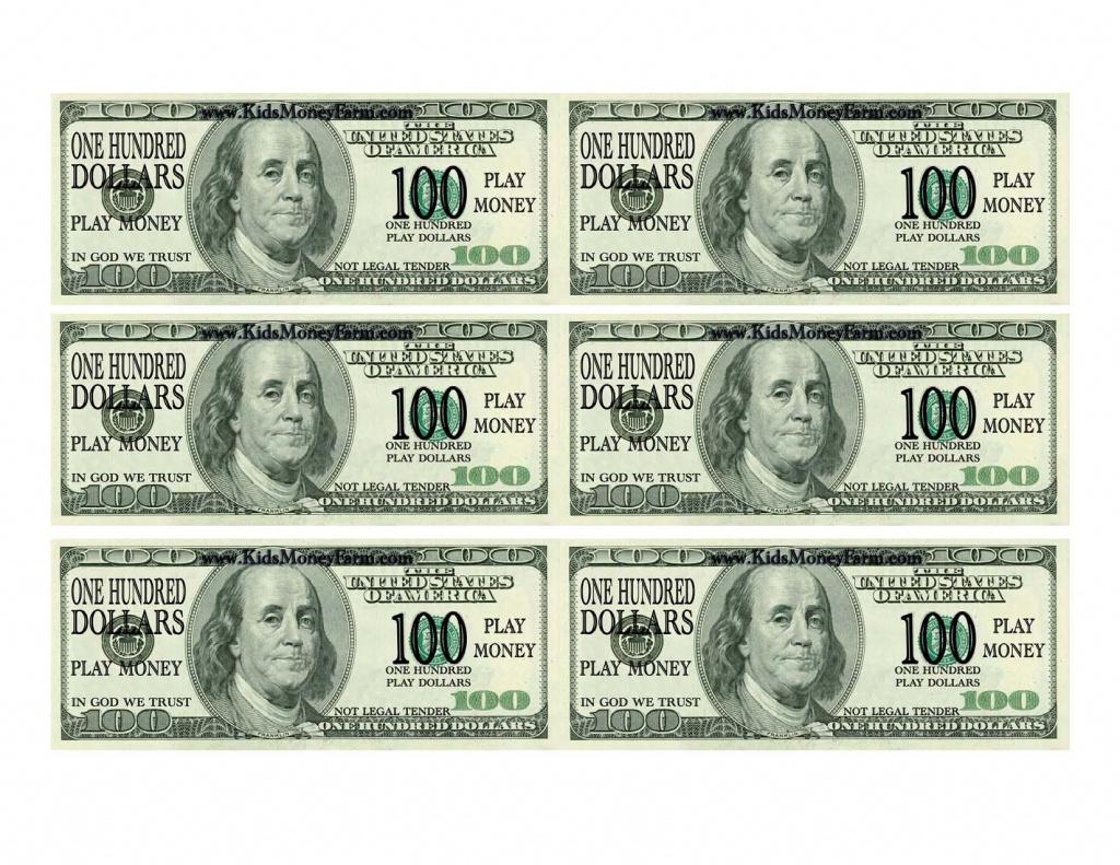 Best Photos Of Printable Fake Money Bills - Fake Money 100 Dollar - Free Printable Play Dollar Bills