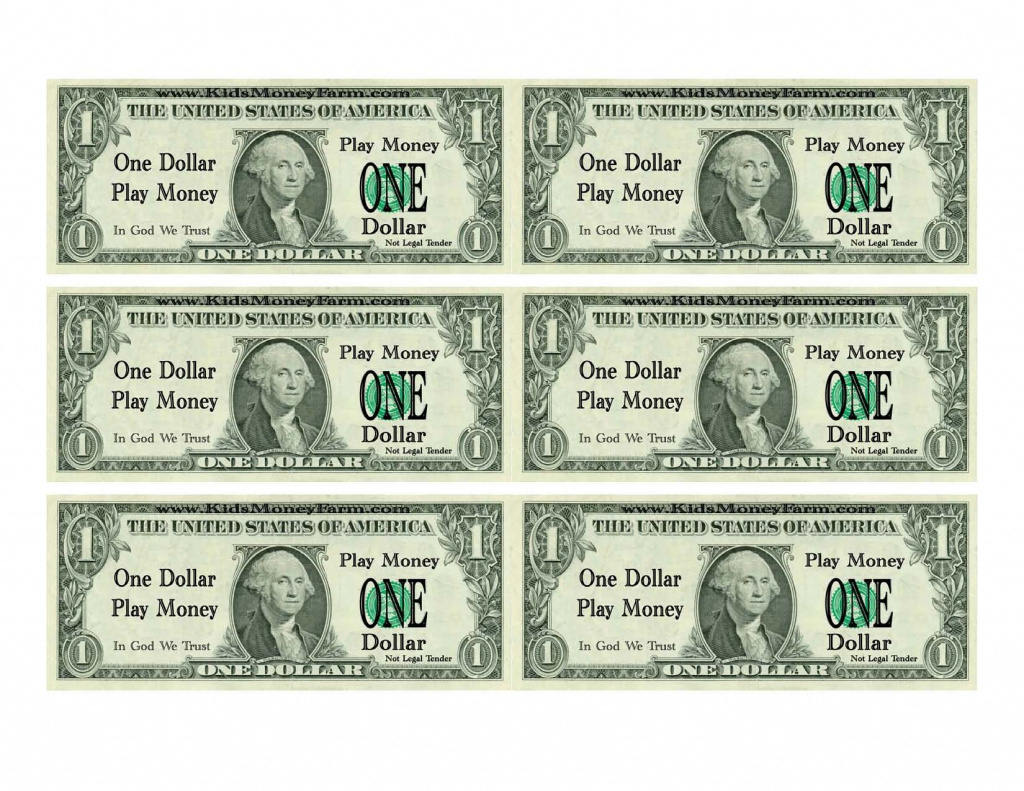 Best Photos Of Printable Realistic Play Money - Printable Fake Money - Free Printable Fake Money That Looks Real