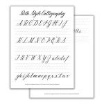 Beth Style Calligraphy Standard Worksheet | The Postman's Knock   Free Printable Calligraphy Worksheets