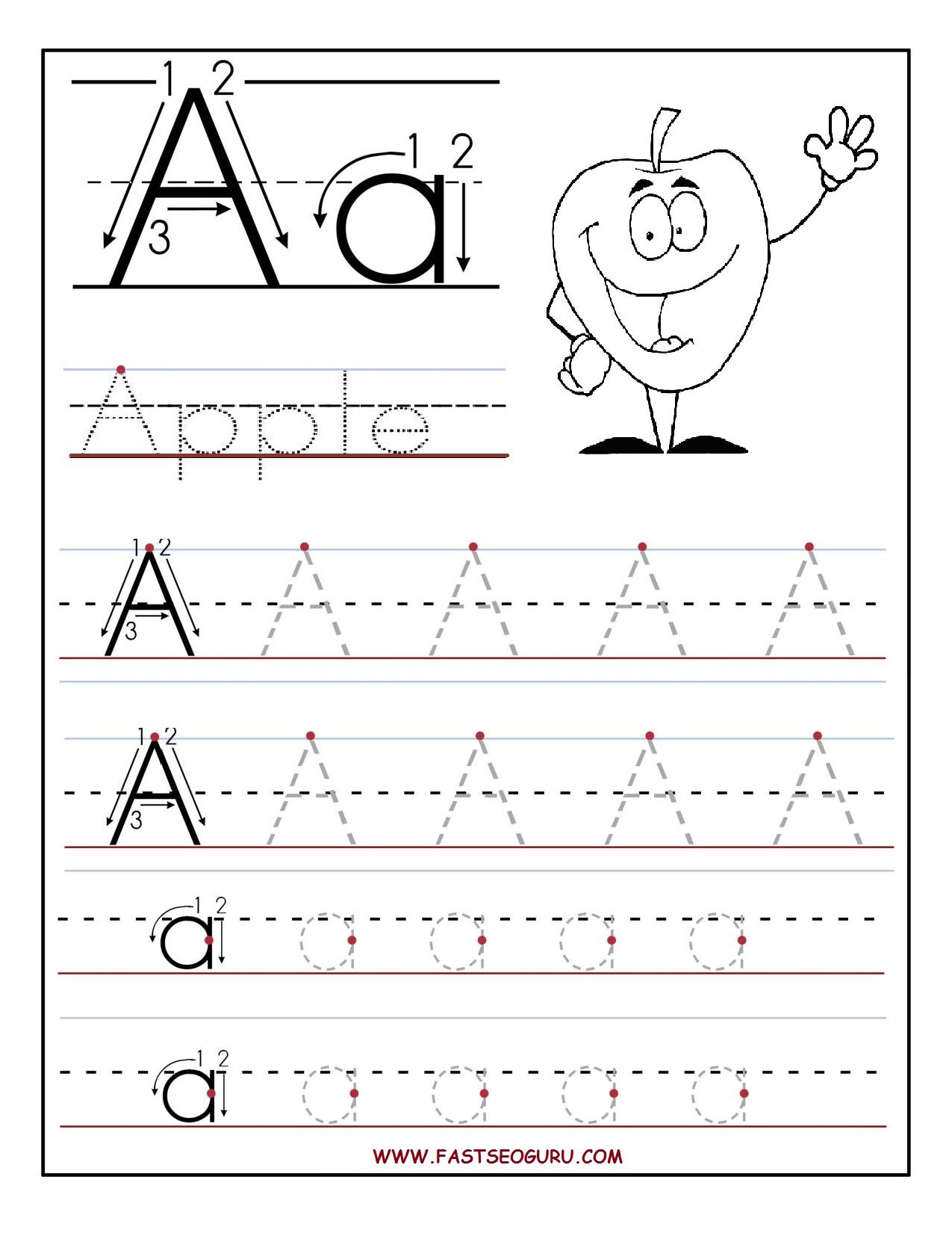 B>Free</b> <B>Printable</b> Letter A Tracing <B>Worksheets</b - Free Printable Activities For Preschoolers