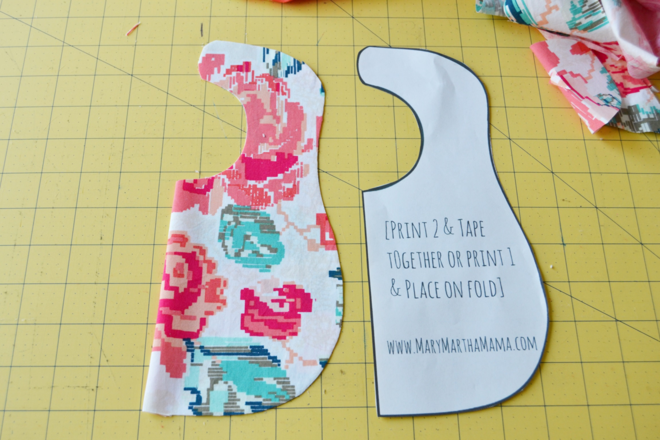 Bib Pattern For Beginners: You Can Make This! – Mary Martha Mama - Free Printable Bib Pattern