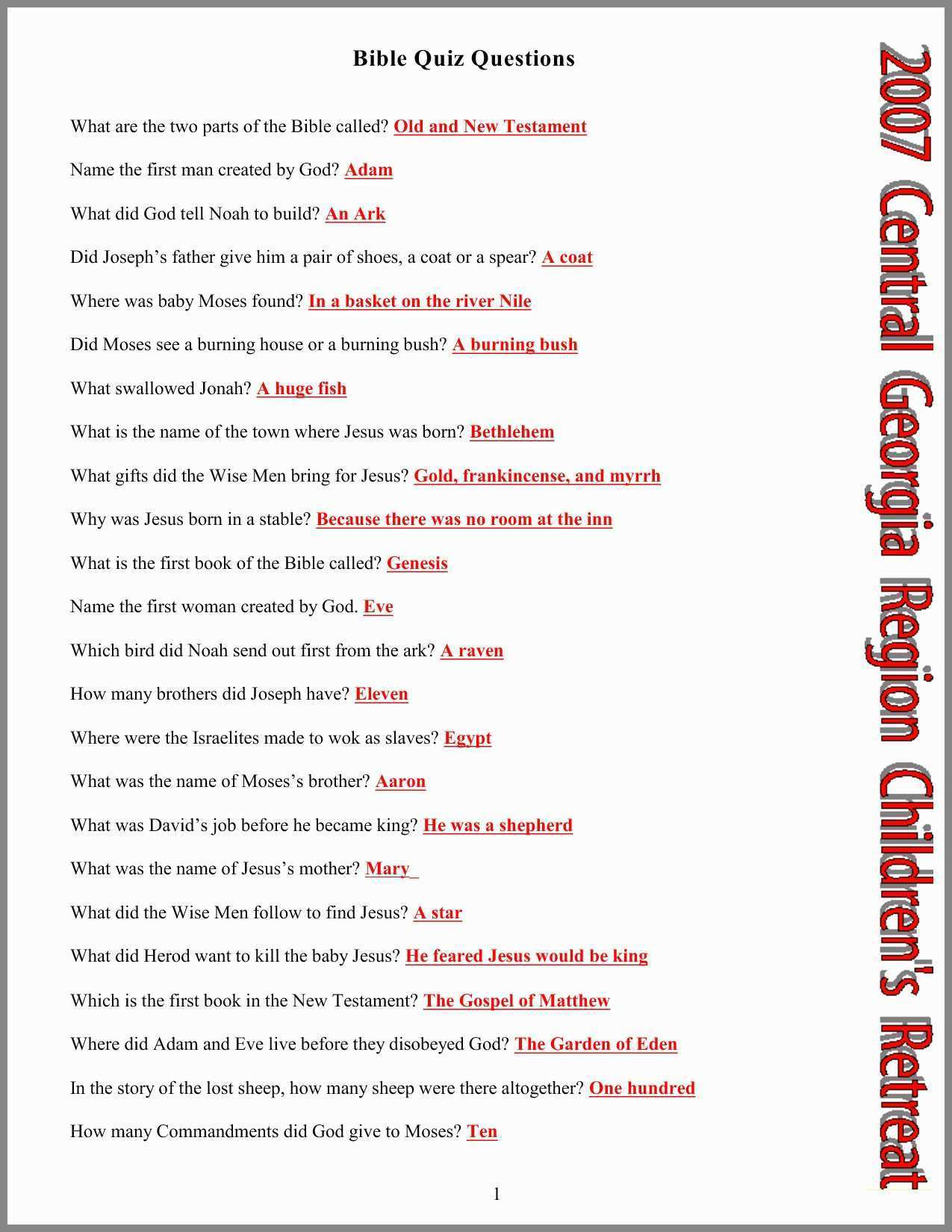 Bible Trivia And Answers Best Of Printable Bible Coloring Pages - Free Printable Bible Trivia Questions And Answers