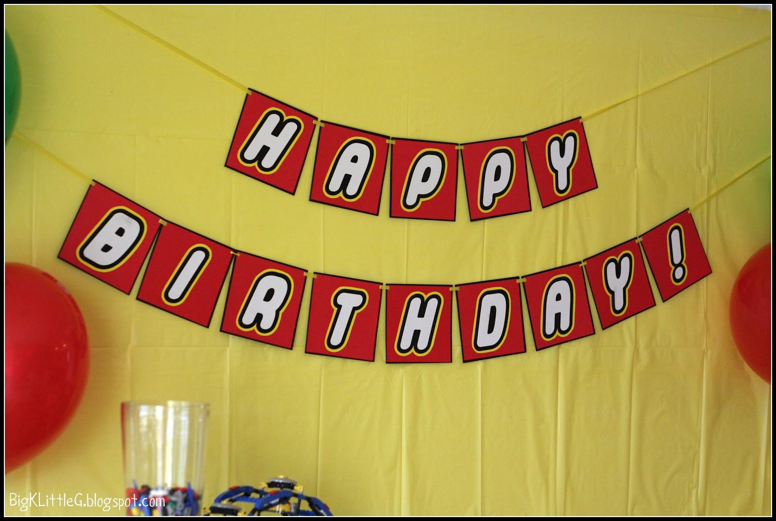 Big K Little G: Lego Party Free Printable Banner - Diy Birthday Banner Free Printable