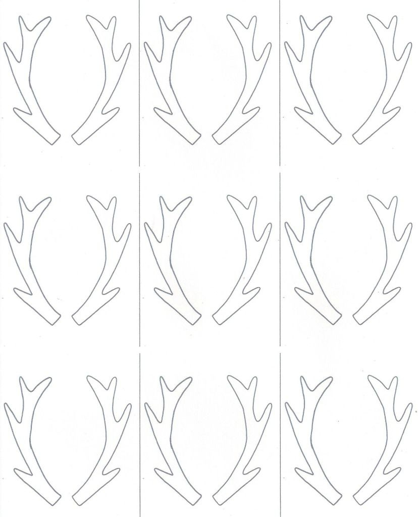 Birch Slice Antler Ornaments + Printable | Reindeer | Ornaments - Reindeer Antlers Template Free Printable