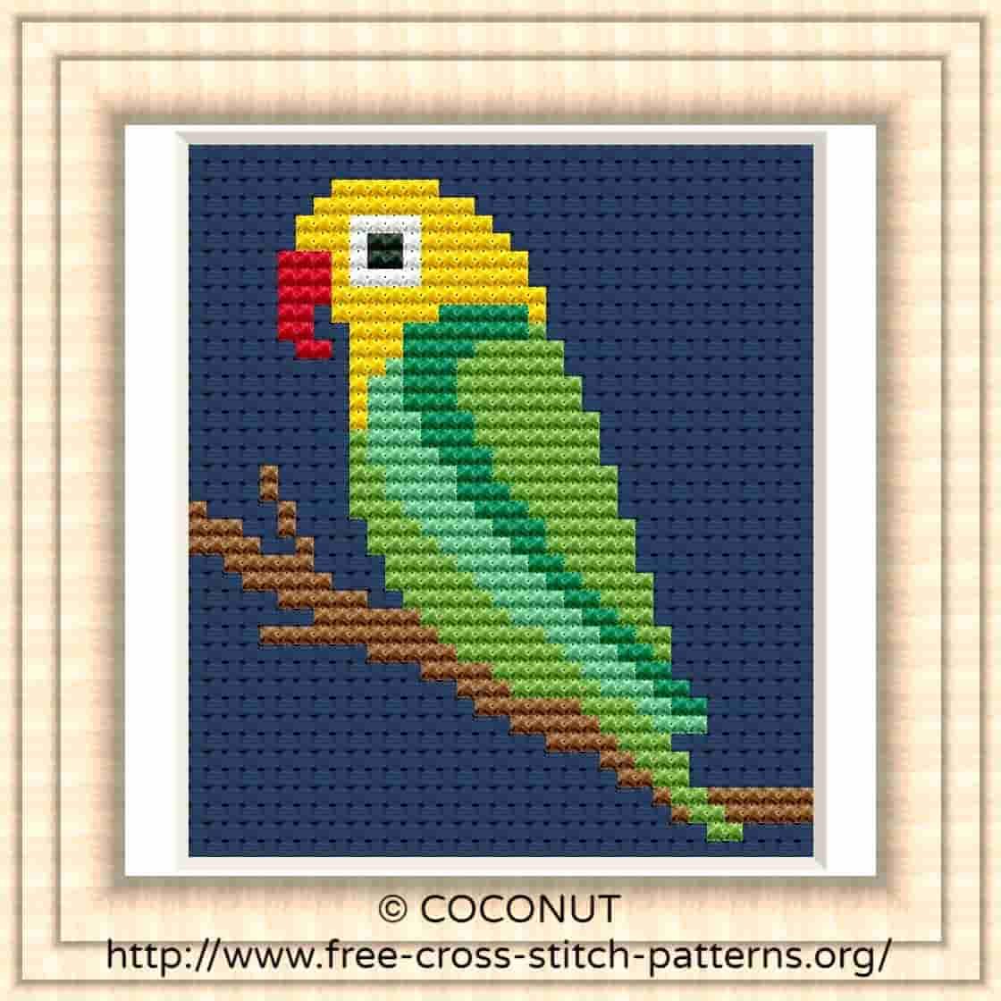 Bird (19) , Free And Easy Printable Cross Stitch Pattern | Free - Free Printable Cross Patterns