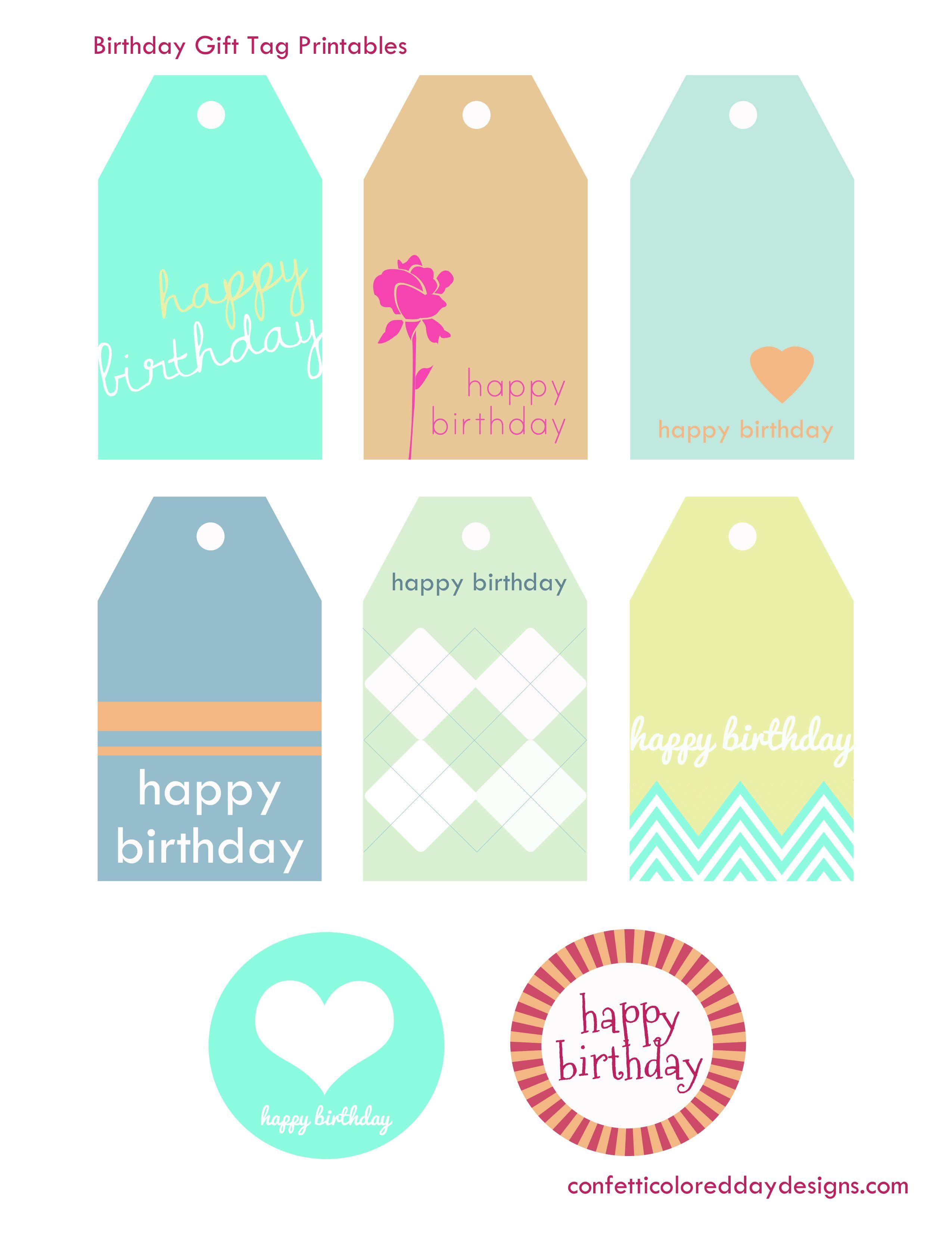 Birthday Invitation Archives | Confetti Colored Day Designs - Free Printable Birthday Tags