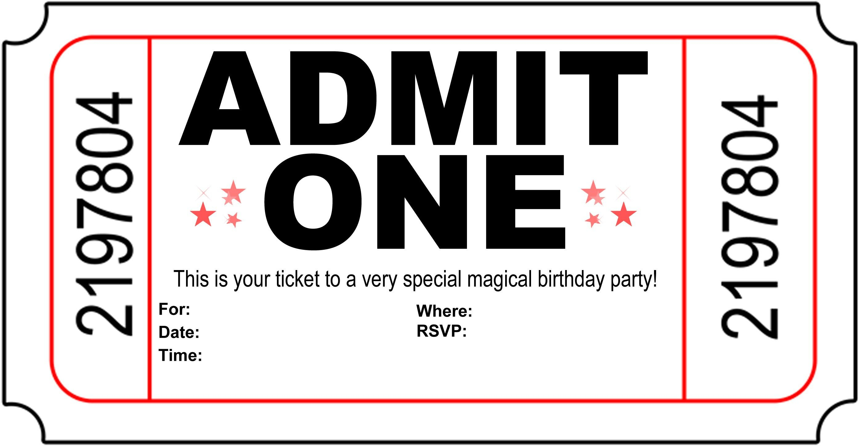 Birthday Party Invitation Free Printable | Printshop. | Pinterest - Free Printable Movie Themed Invitations