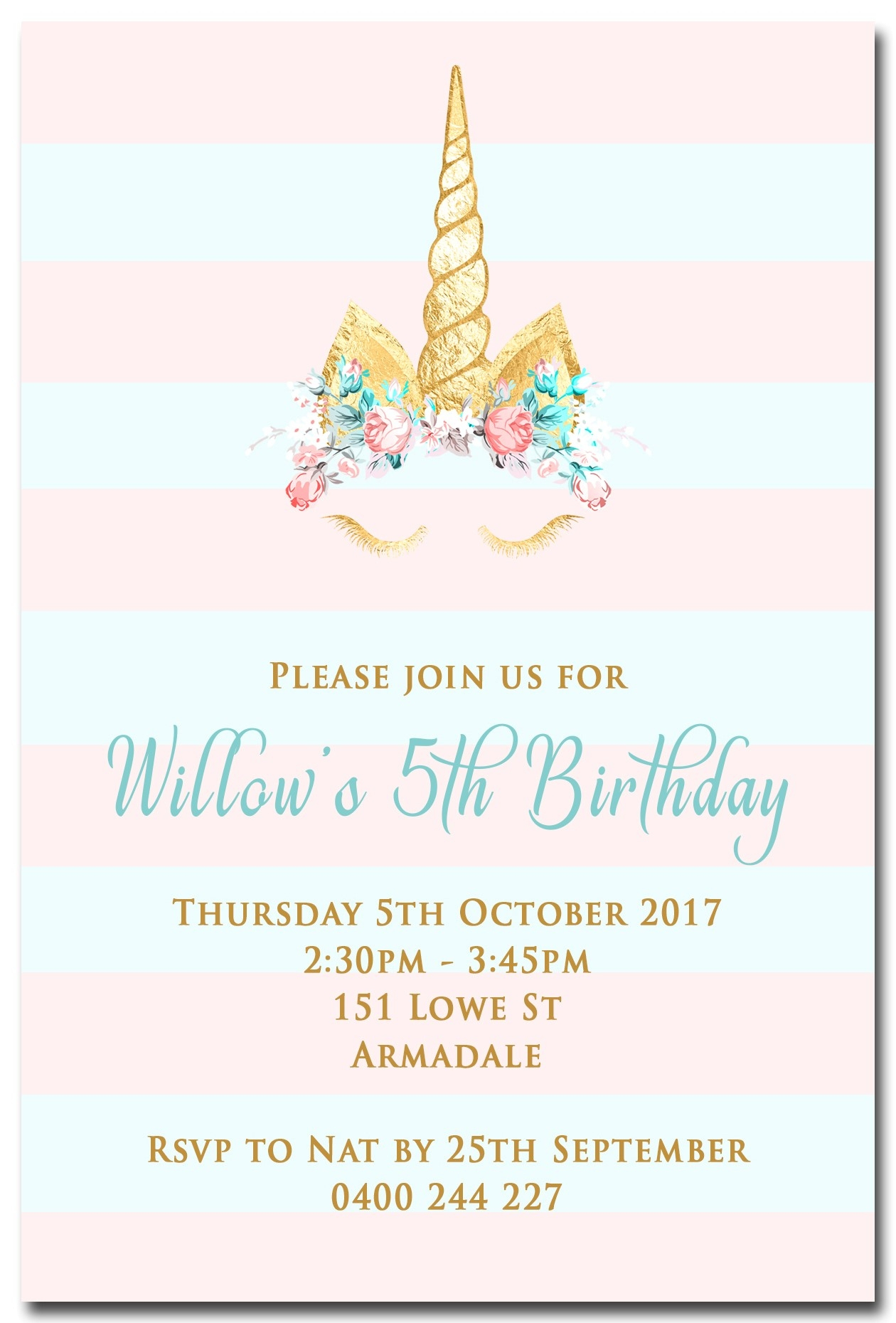 Birthday Party Invitations Attractive Unicorn Birthday Invitations - Free Printable Unicorn Invitations