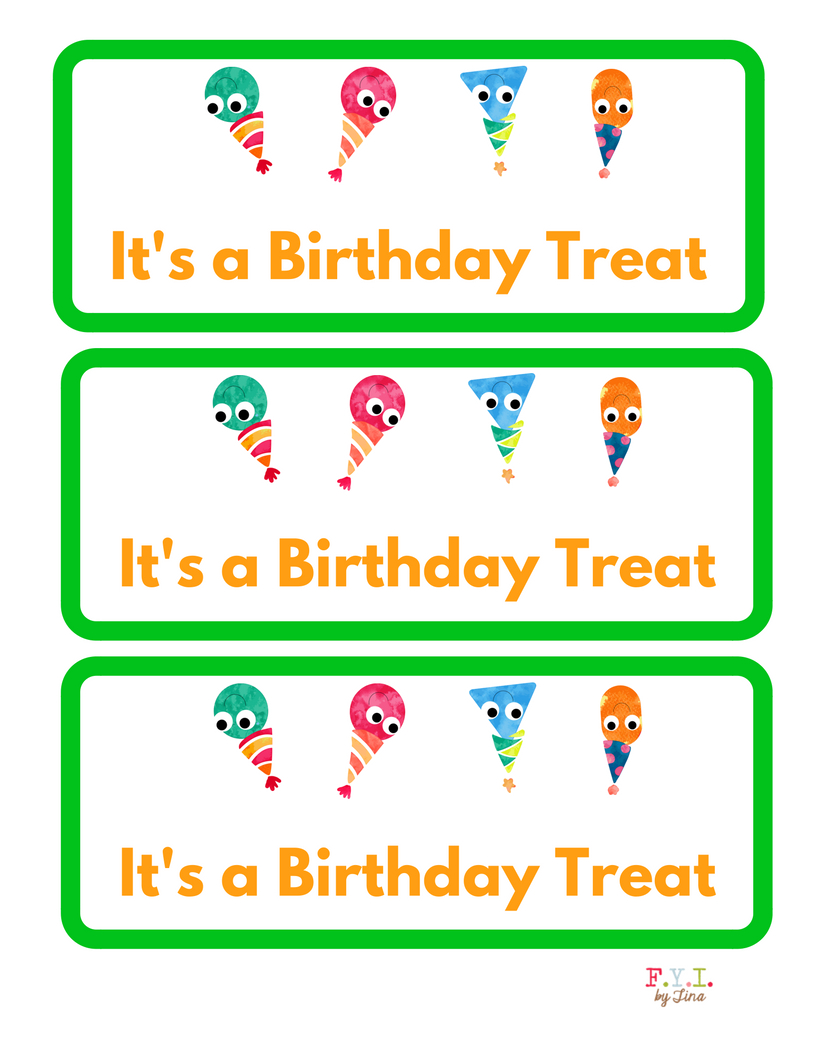 Birthday Sandwich Size Treat Bag Toppers {Free Printable} • Fyitina - Free Printable Bag Toppers