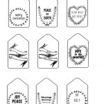 Black And White Christmas Gift Tags | Dezineappz   Christmas Gift Tags Free Printable Black And White