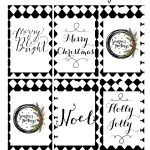 Black And White Cursive Free Printable Gift Tags   Kleinworth & Co   Christmas Gift Tags Free Printable Black And White